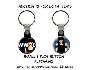 NCIS What Would Abby Sciuto Do Pauley Perrette set of 2 Key Chains