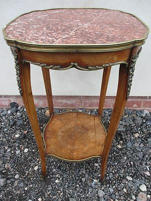 19th Century French marble top ormolu mounted walnut occasional table (ref 1240)