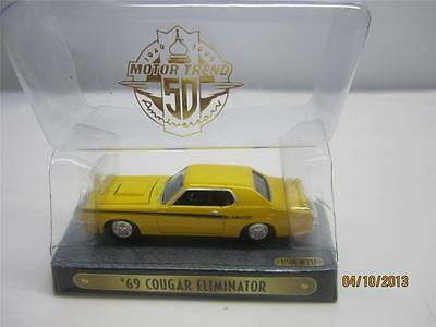 Motor Trend '69 Cougar Eliminator Issue # 213 Yellow Diecast Collectable Car