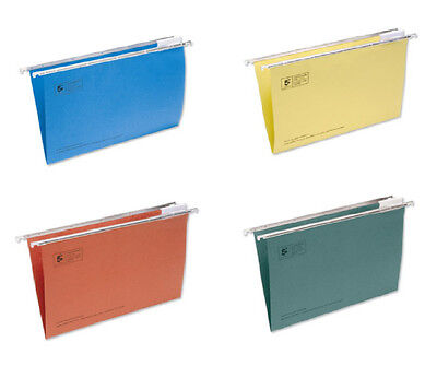 10x Suspension Files Folders Wallets Foolscap MIXED / ASSORTED Colours 400mm