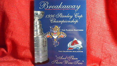Florida Panthers NHL 1996 Stanley Cup Program Vs Colorado Avalanche