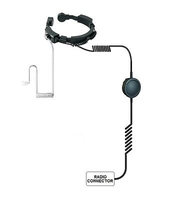 Tactical Heavy Duty Dual Electric Condenser Throat Microphone MOTOTRBO JH3241M7
