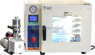 5-Side 0.9 CF Vacuum Oven w/ St St Tubing Oil-Filled Gauge, Pump & 2-Yr Warranty