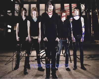 ASKING ALEXANDRIA BAND SIGNED 10X8 PP REPRO PHOTO PRINT Ben Bruce Danny Worsnop