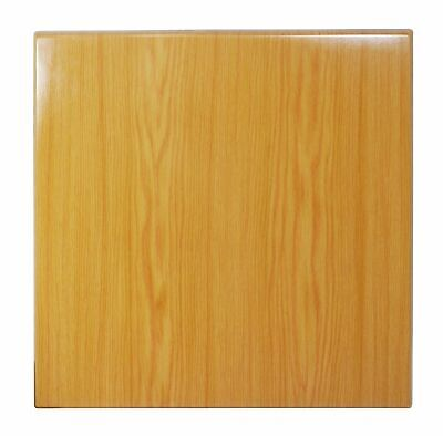 New Table Top Restaurant Cafe Antiscratch UV Isotop Dining 60cm Square Oak