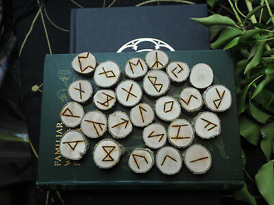 Holly Elder Futhark Runes - with Bag & Information sheet - Pagan, Wicca,  Norse