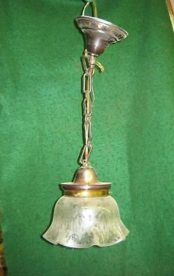 Victorian Antique Style Hanging Ceiling Light Frosted   7244