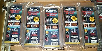 Lot of 5 Ultra Pro Double Booklet One Touch Card Holder UV Protected free ship