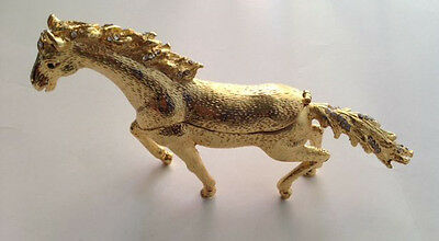Bejeweled Horse Statue Figurine Trinket Jewelry Box