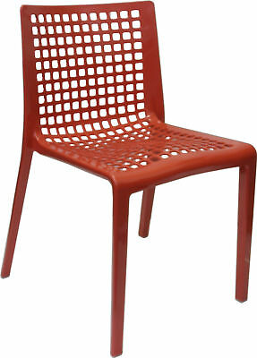 Outdoor CHAIR Stackable Restaurant Cafe Dining Chairs Replica SIMPLE RED