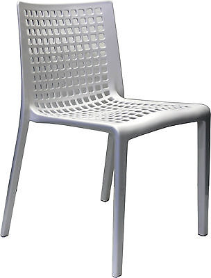 New Outdoor CHAIR Stackable Restaurant Cafe Dining Chairs Replica SIMPLE White