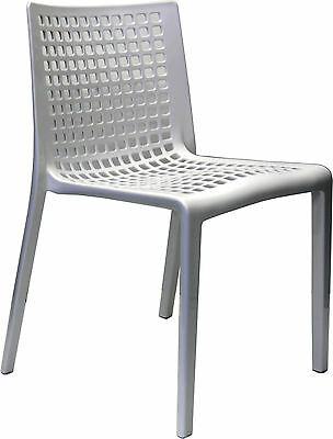 Outdoor CHAIR Stackable Restaurant Cafe Dining Chairs Replica SIMPLE White
