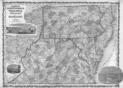 1862 WV MAP KANAWHA PUTNAM GREENBRIER COUNTY Old West Virginia History ITS HUGE