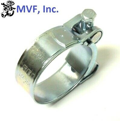 """ONE BOLT HOSE CLAMP T BOLT ZINC PLATED 32-35mm, 1-1/4"""" to 1-3/8"""" NEW  HC908"""