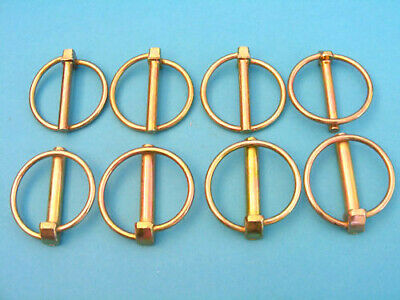 8 x Assorted Lynch Pins 6mm & 8mm - 4 of each size - Trailers Horse Box tractor