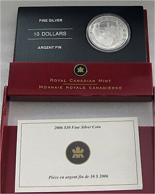 Canada Silver $10 Dollars 2006 Louisbourg Fort Proof 9999 Silver
