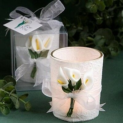 36 Calla Lily Candle Wedding Wedding Favors