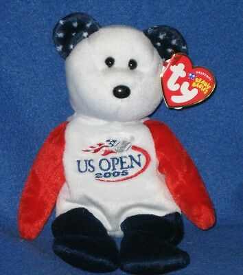 TY SMASH the BEAR BEANIE BABY - US OPEN VERSION - MINT with MINT TAGS