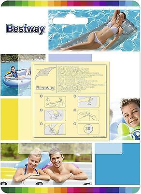Bestway Heavy Duty Repair Patches Adhesive Glue Swimming Pool Boat Airbed 10Pcs