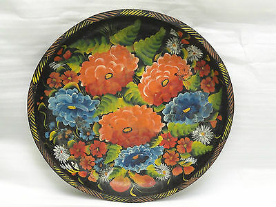 "HUGE 19"" FOLK ART MID 20 c  MEXICAN BATEA HAND CARVED WOOD CENTERPIECE BOWL"
