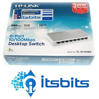 Tp-Link Sf1008D 8 Port 10/100 Computer Network Switch  3 Yr Wty Aus Stock