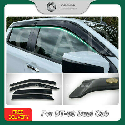 Premium Weathershields Weather Shields Window Visor BT-50 Extra Cab 4pcs 11-19