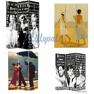 New Room Divider Canvas Screen Folding Screen Privacy 3 panel 2 fold