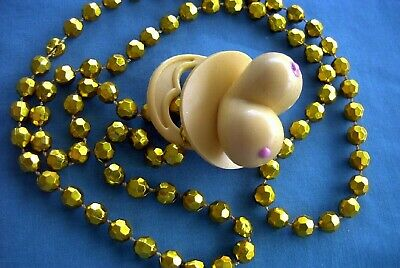 "Unique ""boob Shaped Rubber Pacifier"" Bead Necklace Tits Titties Party Gag (B114)"