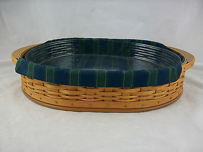 Longaberger 2004 Collectors Club Serving Tea Tray Basket Combo