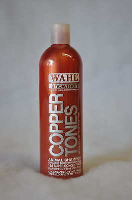 Wahl Showman Copper Tones Colour Enhancing Shampoo Concentrated 5ltr or 500ml