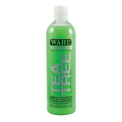 Wahl Showman Tea Tree Shampoo Concentrated Soothing Antibacterial  5ltr or 500ml