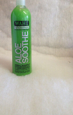 Wahl Showman Aloe Soothe Shampoo Aloe Vera Cools & Soothes Skin 5ltr or 500ml