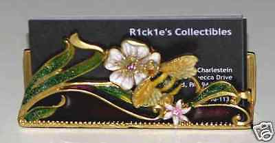 Bejeweled Bee and Flowers Card Holder