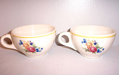 SYRACUSE (Restaurant) CHINA WARE OLD IVORY COLONIAL 2 CUPS FLORAL
