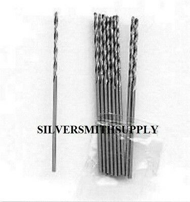 10 Silversmith 1mm steel twist drill bits drill metal
