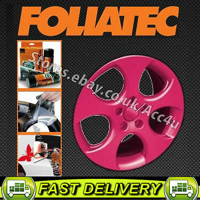 Foliatec PINK Car Alloy Wheels Bike Boat Peel Off Protective Film Spray Paint