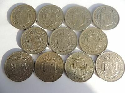 Half Crowns Date Run Sets From 1947-1967 Collection Cheap!!