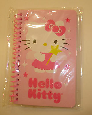 "New Hello Kitty Small Spiral Note Book 5.5"" x 3.5"" Pink- 60 Sheets"