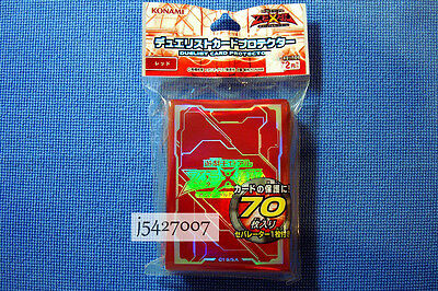 Yugioh Konami Zexal Official Logo Card Sleeves Protector X70 : Red C