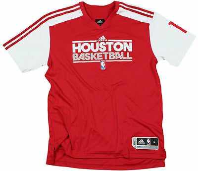 Adidas NBA Men s Houston Rockets Yao Ming  11 On Court Shooting Shirt 57ab3e070