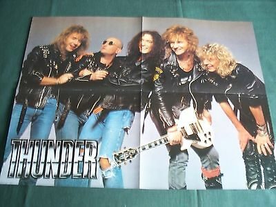Thunder -  Rock Band -  Magazine Clipping - ( Centrespread  Picture )