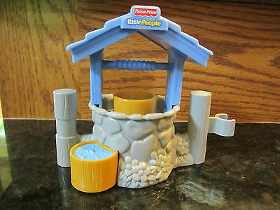 Fisher Price Little People xmas nativity new shepherd water pump well blue stone