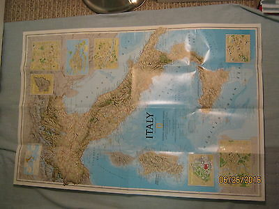 ITALY + HISTORICAL ITALY MAP National Geographic  February 1995 MINT