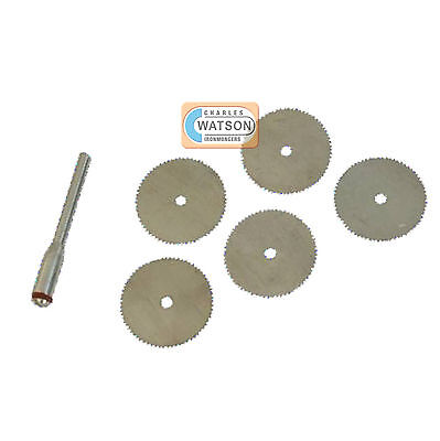 6 Piece Steel Cutting Disc Set Kit Dremel Compatible Multi Tool Accessories