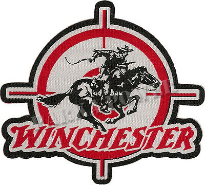 Winchester Woven Patch, Iron on, Rifles, Badges, Guns, Hunters,