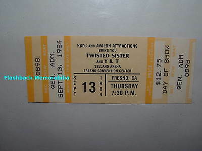 TWISTED SISTER / Y & T Unused 1984 Concert Ticket FRESNO SELLAND ARENA Very Rare