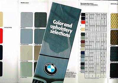 1979 BMW COLOR Paint Chip CHART with Interior Leather Brochure;320i,528i.633CSi