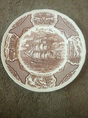 Set Of 4 Alfred Meakin Fair Winds Dinner Plates