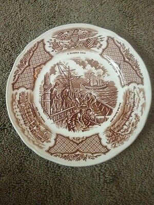 Set Of 6 Alfred Meakin Fair Winds China Plates