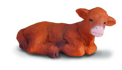 FREE SHIPPING | CollectA 88243 Highland Calf Lying Cow Figurine- New in Package